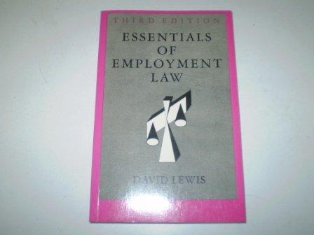 Essentials of Employment Law por David Lewis