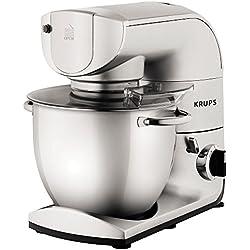Krups ka402d Robot de cocina, 5,5L, 1200W, incluye accesorios, acero inoxidable)