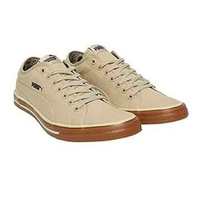 Puma Unisex's Yale Gum Solid Idp Pale Khaki-Chocolate Sneakers