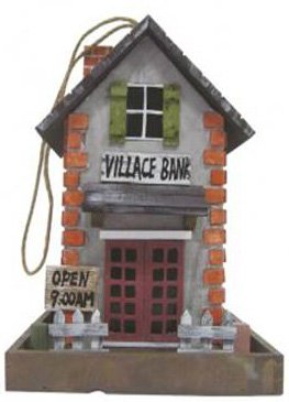 Vogelhaus, Futterhaus für Vögel (Motiv Villace Bank)