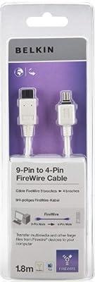 Belkin Câble IEEE 1394 FireWire 800 9 broches (M) FireWire 4 broches (M) 1.8 m (IEEE 1394) blanc de Belkin Components
