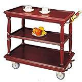 Rolling Kitchen Badezimmerwagen/Metall Massivholz Weinregal/Utility Storage/Home Restaurant Insel Servierwagen w/Wheels 90cm * 45cm * 86.5cm