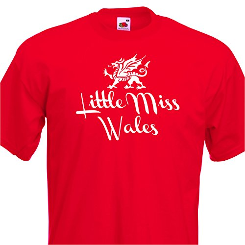 Little Miss Wales Funny Nations Rugby, Football. Welsh Girls Tshirt, age 1-14 St David?s Day Fancy dress top (9-11)