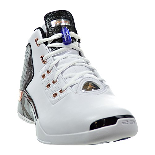 Nike Air Jordan 17 + Retro, espadrilles de basket-ball homme white/metallic copper coin-black-sport blue