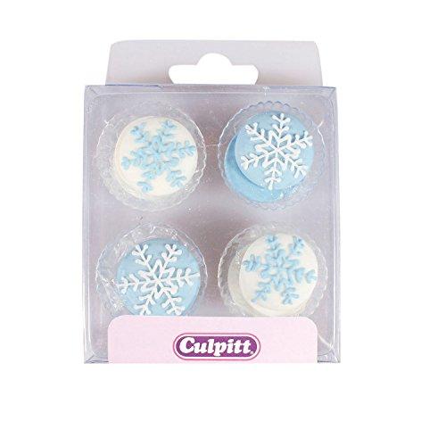 Culpitt 12 Schneeflocken, blau/weiß