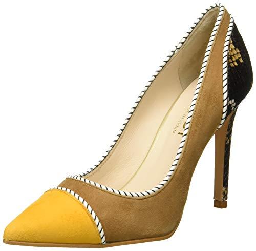 lodi VENSIL39SR, Zapatos de tacón con Punta Cerrada para Mujer, Multicolor (Ante Safron Ante Safron), 38 EU