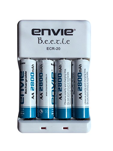 Envie ECR 20 + 4xAA 2800 Battery Charger with Rechargeable Battery Set