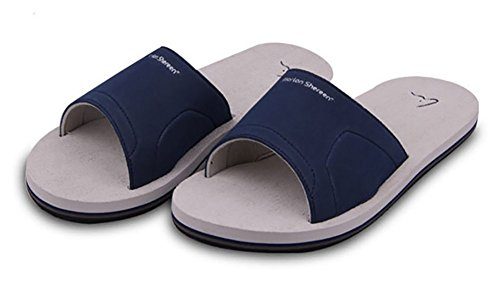 Slip On Pantofole Doccia Antiscivolo Sandali House Mule Think Schiume suola scarpe da spiaggia piscina bagno Slide per adulti, perfetto regalo di natale, Grey, 9 UK