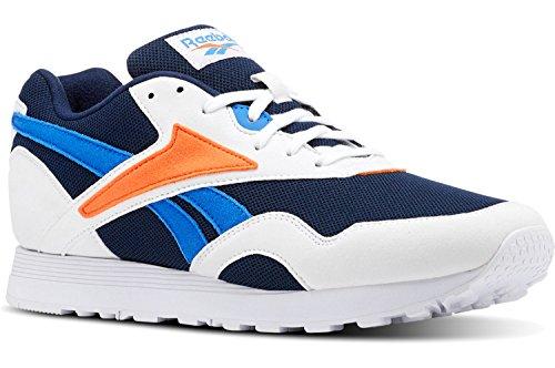 Reebok Herren Rapide Mu Fitnessschuhe, Mehrfarbig (White/Collegiate Navy/Vital Blue/Bright 000), 44.5 EU