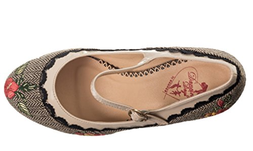 Dancing Days by Banned , Mary Janes pour femme Brown Cream