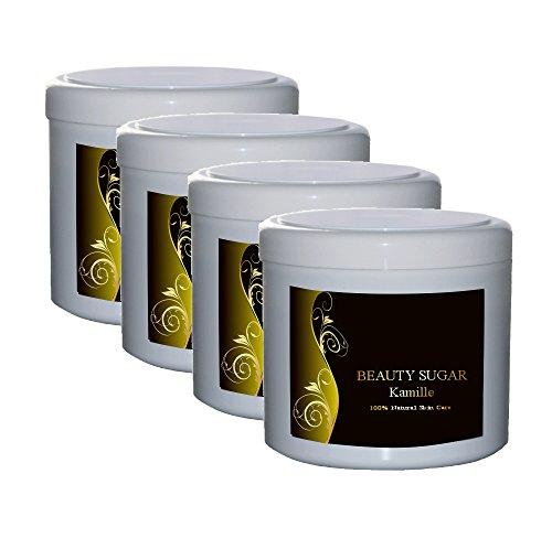 Beauty Sugar Kamille Vorteilpack - 4 Dosen a 500g zum Vorteilspreis - Zuckerpaste zur Haarentfernung - 4 x 500g Sugaring