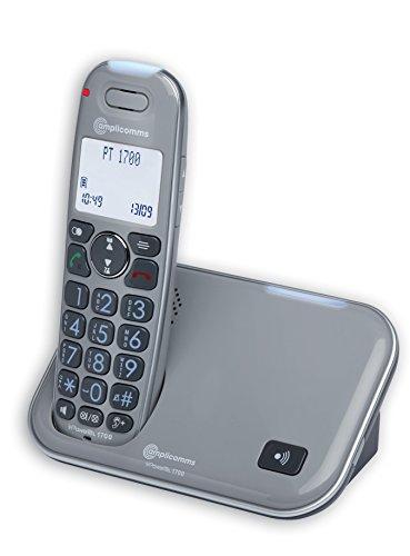 amplicomms PowerTel 1700, Schnurloses Großtastentelefon, Hörgerätkompatibel