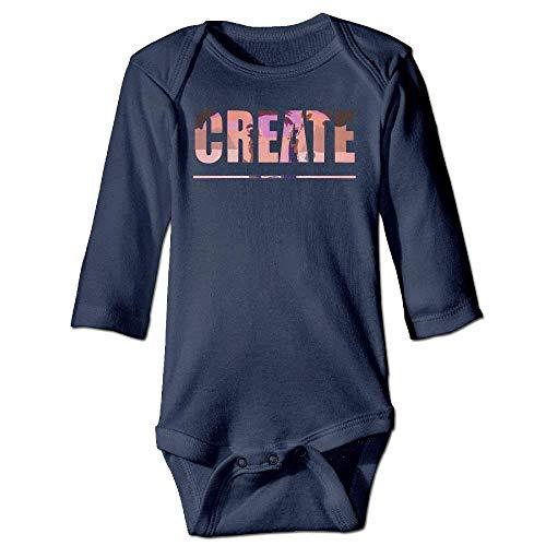 VTXWL Unisex Toddler Bodysuits Classic ECB Boys Babysuit Long Sleeve Jumpsuit Sunsuit Outfit Navy