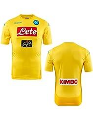 2017/18 SSC Napoli Stadium away jersey Yellow 17/18 Naples Kappa