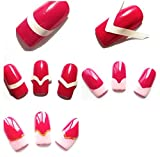 10x Demarkt Nailart Nagel Sticker Tattoo Aufkleber Ausdruck Nagelsticker Nail Art Stripes (Weiß)