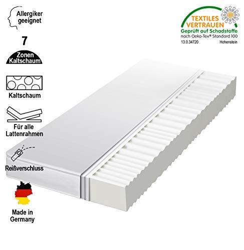 *Traumland 7-Zonen Matratze Komfort Kaltschaummatratze Härtegrad 2in1 H2 & H3 Rollmatratze alle Größen (90 x 200 x 12 cm, H2&h3)*