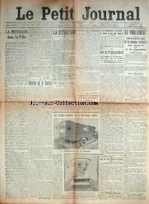 PETIT JOURNAL (LE) [No 19010] du 13/01/1915 - ON PENSE A VIENNE A UNE PAIX SEPAREE - SUR LES FRONTS DU NORD - LA SITUATION MILITAIRE - LA METHODE DANS LA FOLIE - L'ARMEE DES INDES - LES CUISINES-AUTOMOBILES DE LA CROIX-ROUGE ANGLAISE.