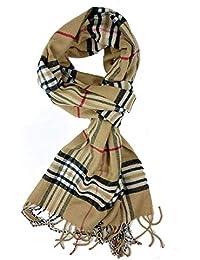 QINCH Home Écharpe pour Hommes Automne Hiver Classique écharpe à Carreaux  Vintage Style spécial Mode Loisirs b0ee4a224cd