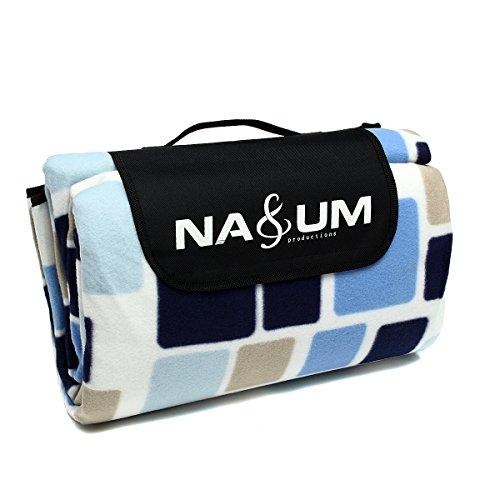 Preisvergleich Produktbild NASUM Picknickdecke Outdoor 200 x 200cm Wasserdichte sanddichte Campingdecken Stranddecke Outdoordecke Wärmeisoliert und Schmutzabweisender Unterseite