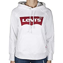Levi's Graphic Sport Sweat-Shirt À Capuche, Blanc (Housemark Hoodie White 0010), Small Femme