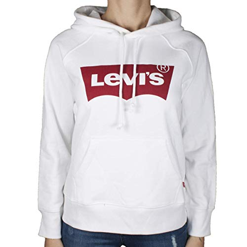 Levi's Graphic Sport Cappuccio, Bianco (Housemark Hoodie White 0010), Small Donna