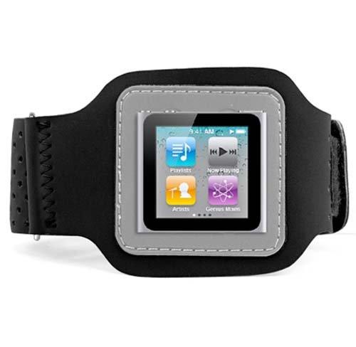 DIGIFLEX Schwarzes Sportarmband und Schutzhülle für Apple iPod Nano 6. Gen (Apple Ipod Nano 6. Gen)