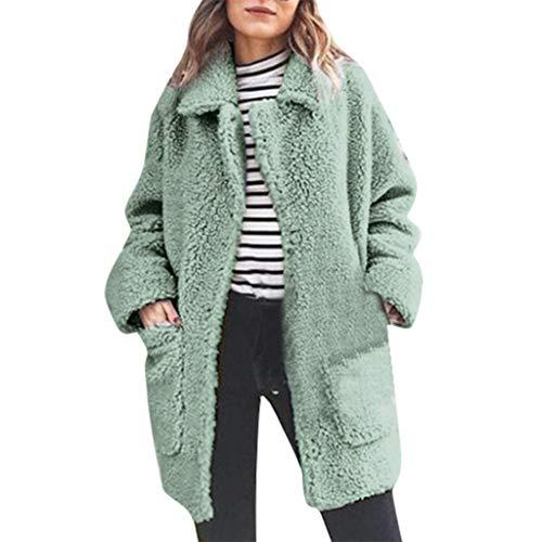 Wawer, Winter, Lässig, warm, für Frauen, aus Plüsch, große Rückseite, Tasche, Parka Outwear, elegant, für jeden Tag, Outdoor, einfache Jacke, robust, bequem m grün -