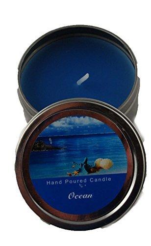Dosenkerze 62 x 30 mm in blau - Duftkerze Ocean