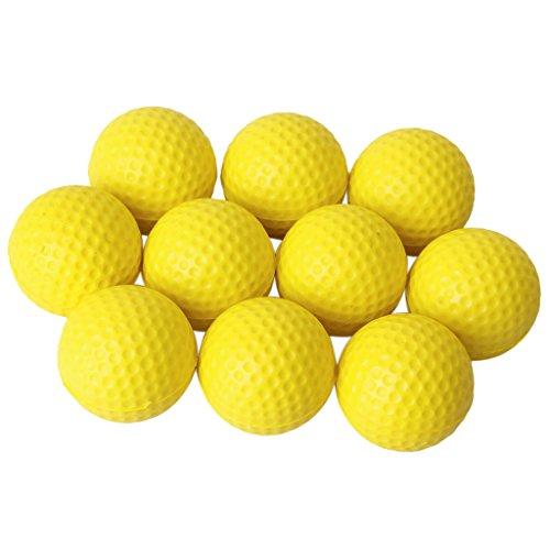 Gazechimp 10pcs Golf Balle Boule en Mousse PU Pour Formation Exercice Jaune