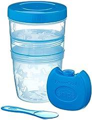 Snips Yogurt & Cereali vaschette Multiple Blu Contenitore refrigerato con cucchiaino Yogurt con Coperchio