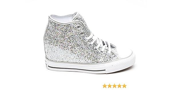 a410f89eb021ba Converse All Star MID LUX GLITEER Silver