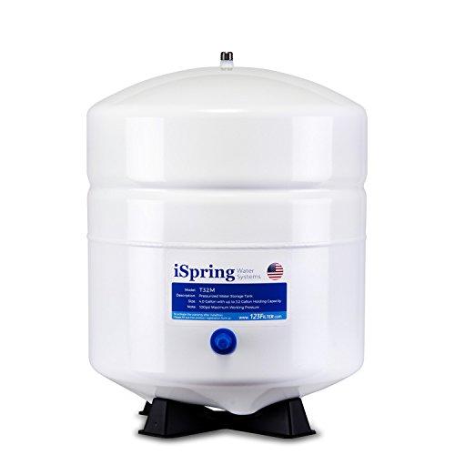 iSpring T32M 3,2Gallonen privaten unter Druck Wasser-Speicher für Umkehrosmose (RO)