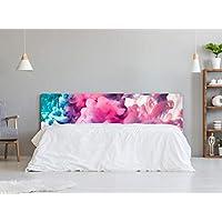 Cabecero Cama Cartón Ecológico Kraft Nido de Abeja Textura Humo Impresión Digital 135x60 cm | Varias