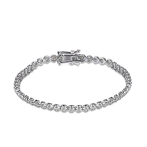 925 linea d'argento intarsio Bracciale in platino placcatura/Edizioni giapponesi e coreani di braccialetto zircone intarsiato a