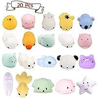 LEEHUR Squishy Toys, Kawaii Animaux Mignon Mochi Squishy Slow Rising Squeeze Animal Stress Reliever Anti-Stress Jouet