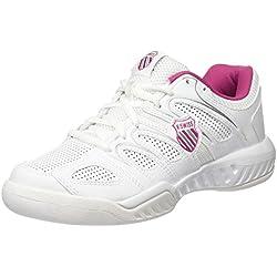 K-Swiss Calabasas Omni - Zapatillas para Mujer, Blanco/Rosa (WHT/MGNTA/SLV), 38