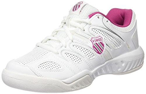 K-Swiss Calabasas Omni - Zapatillas para Mujer, Blanco/Rosa (WHT/MGNTA/SLV), 39.5