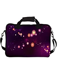 """Snoogg Abstract Small Flower 12"""" 12.5"""" 12.6"""" Inch Laptop Notebook SlipCase With Shoulder Strap Handle Sleeve Soft..."""