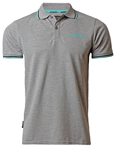 Sonneti Herren Poloshirt Grau - Athletic Grey Marl