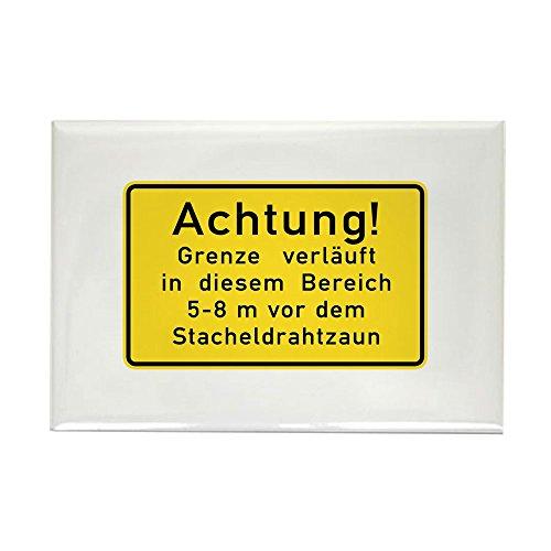 CafePress-Achtung. Grenze Verl? UFT, Kalten Krieges Berlin RECTAN-Rechteck Magnet, 5,1x 7,6cm Kühlschrank Magnet