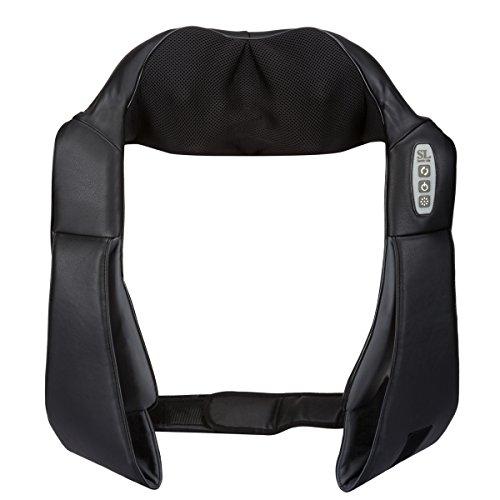 Schnurloses 12 Knoten Shiatsu Massagegerät mit langen Gurten und Klettverschluss. Massage für Nacken Schulter Rücken und Füße. Schmerzlinderung Nackenmassagegerät Massage Gerät Ideale Geschenk