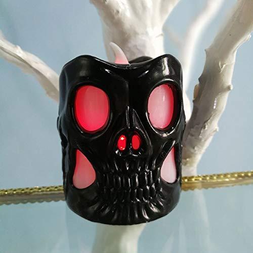 WSCOLL Halloween Dekoration LED Nachtlicht Batteriebetriebener Kürbis/Spinnennetz/Schädelhalter Lampe Laterne Party Dekoration Startseite 24. JuniD (Kostüm D'animaux)