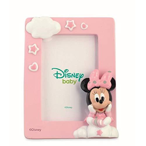 Disney baby topolina minnie cornice portafoto resina con shopper box