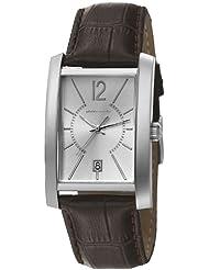 Pierre Cardin GARE DE LYON Herrenuhr Edelstahl Silber Lederband Braun PC106551F10