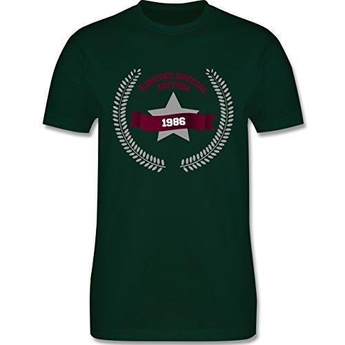 Geburtstag - 1986 Limited Special Edition - Herren Premium T-Shirt Dunkelgrün