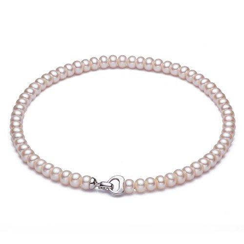 b0c8eb3e7ae2 Collar Smokokos de genuinas perlas cultivadas de agua dulce color blanco