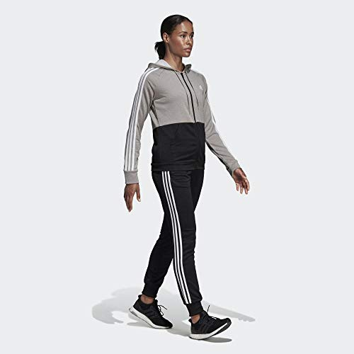 adidas Damen WTS Game Time Tracksuit, MGH solid Grey/Black/White, XS