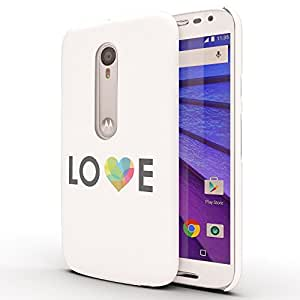 Koveru Designer Printed Protective Snap-On Durable Plastic Back Shell Case Cover for Motorola Moto G3 - Love with a heart