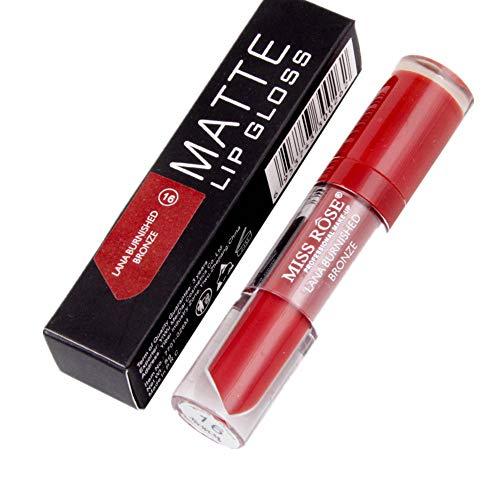 Yazidan Miss Rose Flüssigkeit Lippenstift Feuchtigkeitscreme Samt Lippenstift Kosmetik Schönheit Bilden Wasserdicht Vampir-Stil Glanz Glänzend Mode Lange andauernd Feuchtigkeitsspendend (#16) -