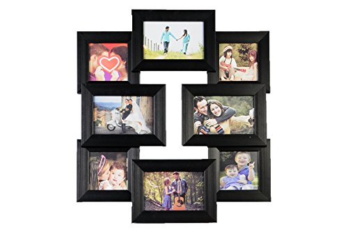 FRAMEWORKS 8 IN 1 PHOTO FRAME.A NEW METHOD OF STORING PHOTOGRAPHS IN A UNIQUE WAY IN NEW CREATIVE STUCTURED COLLARGE FRAMES.8 PIECES IN A SINGLE FRAME SET WITH MATTE BLACK FINISH GIVING A CLASSY FINISH